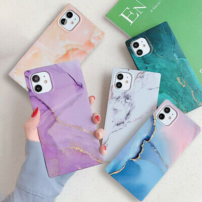 AU10.99 • Buy IPhone 12 Pro Max 12 Mini 11 XS 8 7 Square Marble Silicone Soft Phone Case Cover