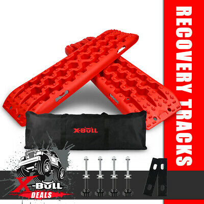 AU98.90 • Buy X-BULL Recovery Tracks 10T Sand Track Mud Snow Grass 4WD Accessories 1Pair Red