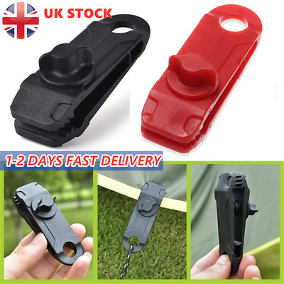 10~30X Reusable Tent Tarp Tarpaulin Clip Clamp Buckle Camping Tool Heavy Duty UK • 6.99£