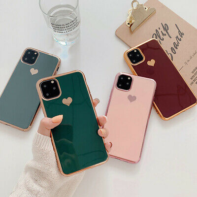 AU8.99 • Buy Iphone 12 Pro Max Mini 11 XS 8 7 X Love Heart Case Plating Soft Protective Cover