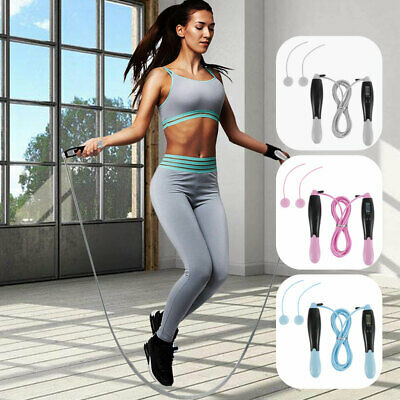 AU15.99 • Buy Digital Wired Wireless Cordless Skipping Jump Rope Fitness With Skip Counter NEW