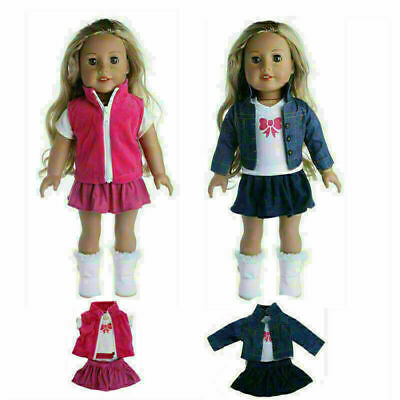Doll Clothes Dress Outfits Pajames Xmas For 18 Inch American Girl Our Generation • 4.69£