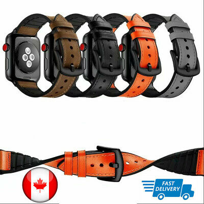 $ CDN9.87 • Buy For Apple Watch Series 5 4 3 Iwatch Band 38/40/42/44mm Leather IWatch Band Strap