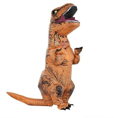 Xmas T-REX Dinosaur Inflatable Dino Costume Outfits Suit For Adult Cosplay Party • 28.99£
