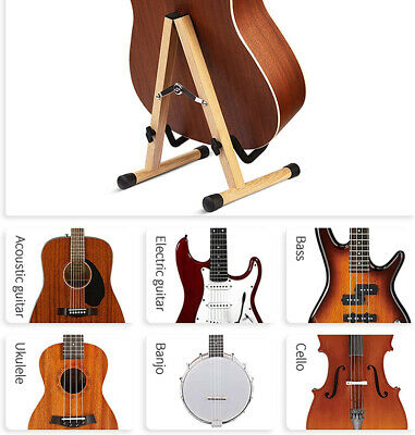 AU32.50 • Buy Folding Guitar Stand Portable Travel Ukulele Cello Banjo Mandolin Floor Stand