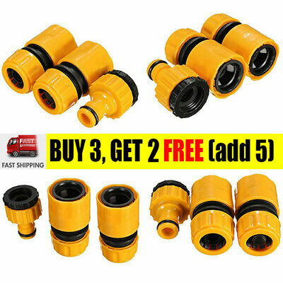 Garden Hose Connector Set Watering Pipe Tap Plastic Connector Adaptor Fitting UK • 4.35£
