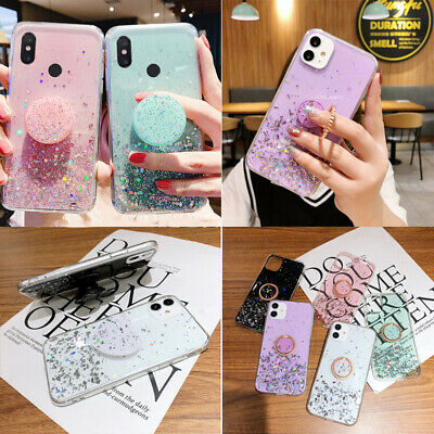 Bling Glitter Soft Phone Case & Holder For Huawei P Smart 2019 2020 Honor 10 Lit • 3.91£