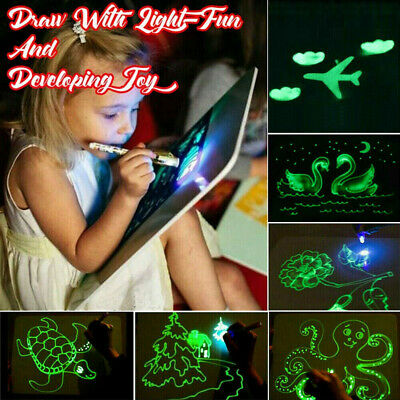 Kids Draw With Light Magic Drawing Board Painting Developing Educational Toy Fun • 11.99£