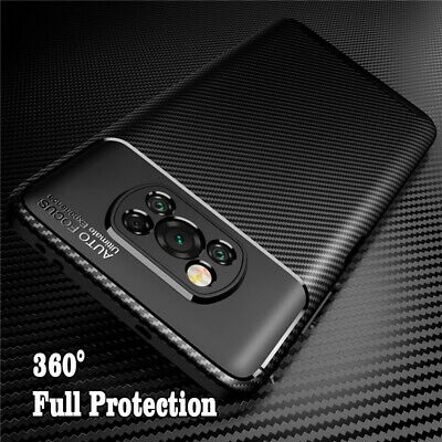 $ CDN5.94 • Buy For Xiaomi Poco X3 NFC Carbon Fiber Shockproof Soft Silicone Phone Case Cover