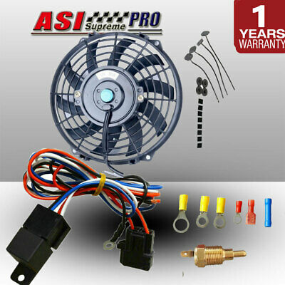 AU64 • Buy 9  PULL/PUSH RADIATOR ELECTRIC THERMO CUEVED BLADE FAN MOUNTING+Thermostat KITS
