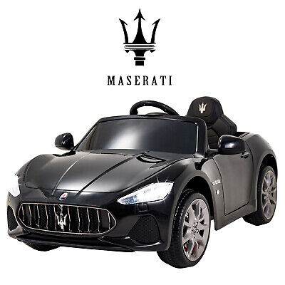Black 12V Maserati Licensed Electric Kids Ride On Car Toy With Remote Control • 139.99£