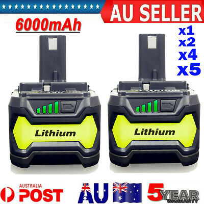 AU43.89 • Buy 18V 6.0Ah Lithium Ion Battery For Ryobi P108 ONE+ Plus P104 P102 P103 P107 P109