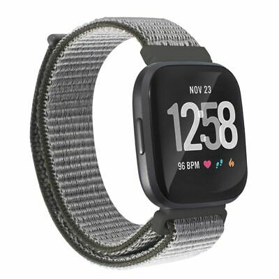 $ CDN11.33 • Buy For Fitbit Versa 2 1 Lite SE Soft Woven Nylon Band Replacement Strap Dark Gray