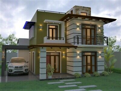 Custom Modern House Home Building 3 Bedroom 3 Bathroom Plans & Garage & CAD File • 7.15£