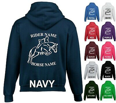 Personalised Hoodie Horse Riding Equestrian Cob Pony Christmas Gifts Back Print • 18.09£
