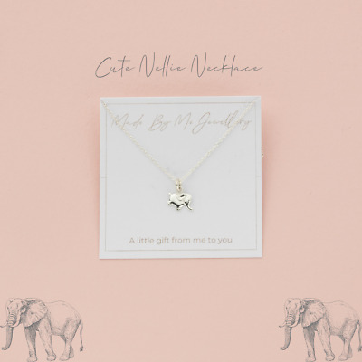 £10 • Buy 925 Sterling Silver Elephant Pendant Necklace