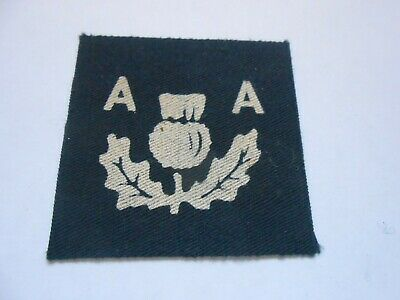£18 • Buy Scottish Anti Aircraft Command Printed Cloth Formation Sign Military Unit Patch