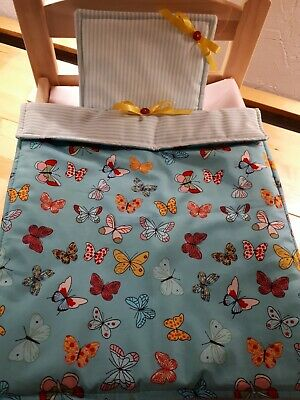 £4.50 • Buy Dolls Pram Cot Bedding Set -pretty Butterfly In Turquoise Cream 12x17 Inc Aprox