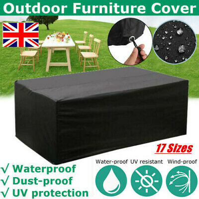 Heavy Duty Garden Patio Furniture Table Cover For Rattan Table Cube Set Outdoor • 14.99£