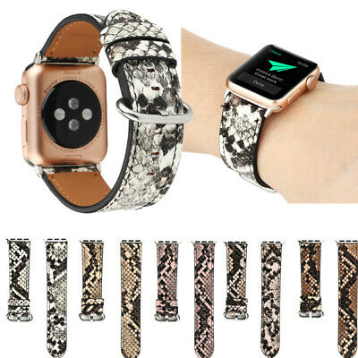 AU18.94 • Buy Snake Skin Design Leather IWatch Band Straps For Apple Watch Series 6 5 4 3 2 1