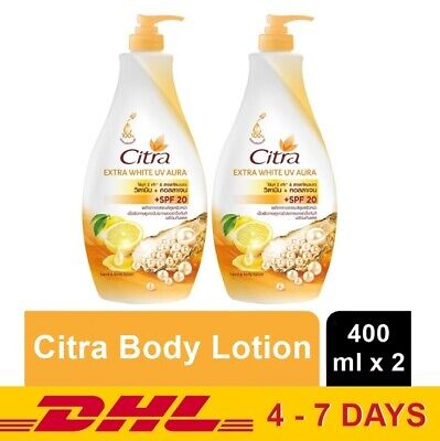 $ CDN36.71 • Buy 400ml X 2 Citra Extra Whitening UV Aura Body Lotion Moisturizers