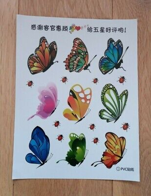 Butterfly And Ladybird Stickers • 1.79£