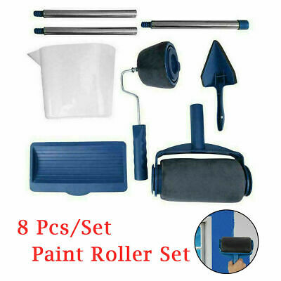 £11.39 • Buy 8Pcs Paint Runner Pro Roller Brush Set Room Painting Wall Handle Decorating Tool