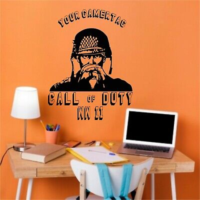 £10.99 • Buy Personalised Name Vinyl Wall Art Stickers Boys.Call Of Duty Any  Color