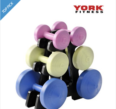 York Family Dumbbell Weight Set And Stand (free Shipping) • 69.99£