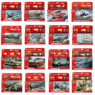 Airfix Starter Sets Kits - Aircraft Cars Ships - Inc Paints Brush & Glue  • 12.49£