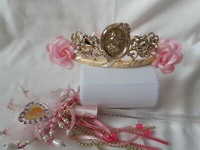 Disney Princess Sleeping  Beauty  Aurora  Tiara And Light Up Wand • 12£