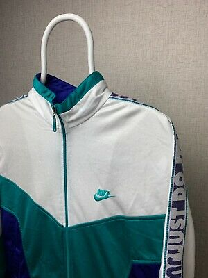 Nike Vintage Track Top Just Do It Bandana Size L Multicolor Hoodie Hooded • 45£