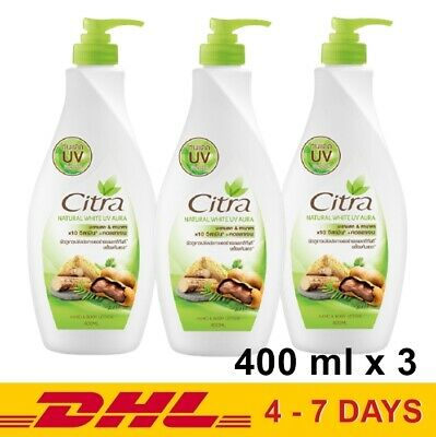 $ CDN44.31 • Buy 400ml X 3 Citra Natural White UV Aura Tamarind & Tanaka Body Lotion Moisturizers