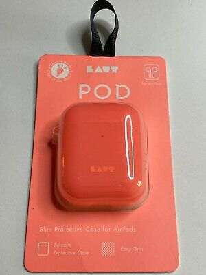 $ CDN8.46 • Buy LAUT Pod Case Cover Super Light Silicone For AirPods - Electric Coral