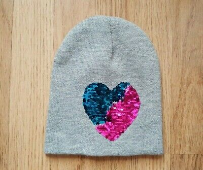 £7.99 • Buy Girls Grey Reversible Sequin Beanie Hat - One Size