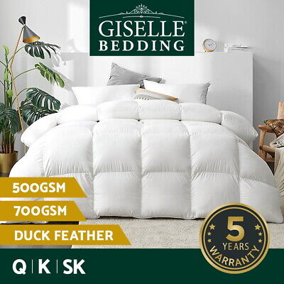 AU58.90 • Buy Giselle Duck Down Feather Quilt King Duvet Doona All Season 500/700GSM All Size