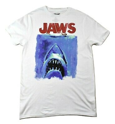 $9.99 • Buy Jaws Mens Classic Movie Poster Retro '70s Style Shark Movie Shirt New S,M,L,XL