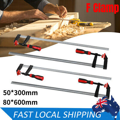 AU55.49 • Buy Woodworking Bar F Clamps Quick Release  50 X 300 Mm 80 X 600 Mm Adjustable 2X 4X