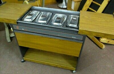Retro Royal Ekco Heated Hostess Trolley W/ Original Dishes & Cabinet - Working • 39.99£