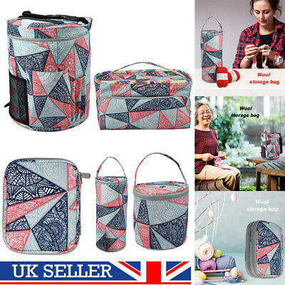 Knitting Storage Bag Wool Tote Crochet Hook Needles Organiser Holder Oxford Bag • 10.06£