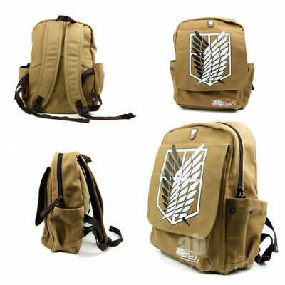 Attack On Titan Shingeki No Kyojin Anime Cosplay Backpack Schoolbag Shoulder Bag • 14.99£