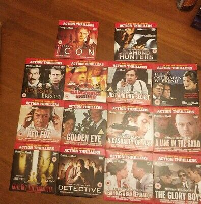 Daily Mail 14 DVD Action Thrillers Movie Collection Bundle • 7.99£