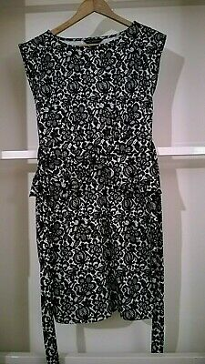 £3.99 • Buy Ladies Beautiful Peplum Black And White Stretch Dress By DOROTHY PERKINS 12