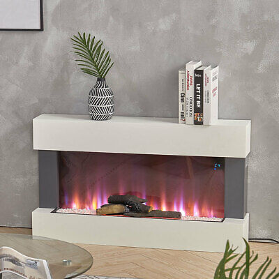£355.95 • Buy Electric Fire Wall Mounted 7 LED Flame Fireplace Surround Fire Suite Remote/Wifi