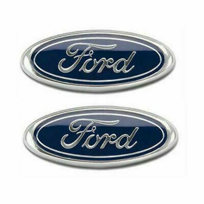 2PC X Ford Badge Oval Chrome 150mm X 60mm Front/rear Emblem Focus Mondeo Transit • 9.99£