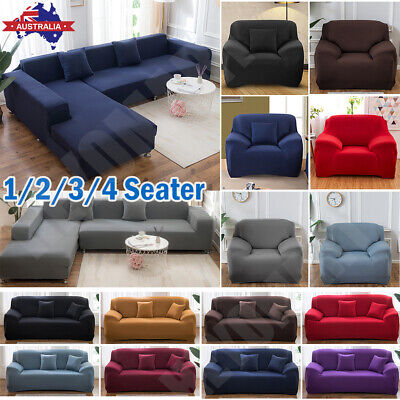 AU24.41 • Buy Sofa Covers 2 3 4 Seater Lounge Couch Recliner Chair Stretch Slipcover Protector