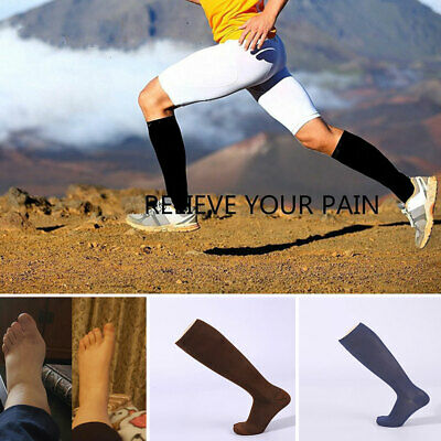 Knee High Graduated Compression Socks Support Mens Womens Exercise Recovery • 6.28£