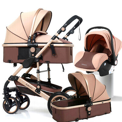 Carrycot Baby Stroller Baby Carriage Newborn Buggy 3 In 1 Car Seat Travel System • 138.88£