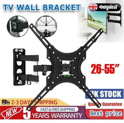 Wall Mount TV Bracket Tilt Swivel TV LCD LED Monitor 14 21 22 27 32'' VESA 100mm • 6.66£