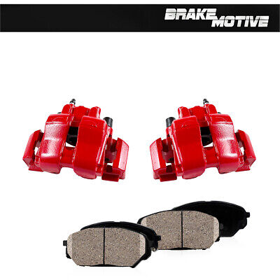 $283.91 • Buy For 2009 2010 Escape Mariner Front Red Coated Brake Calipers And Ceramic Pads